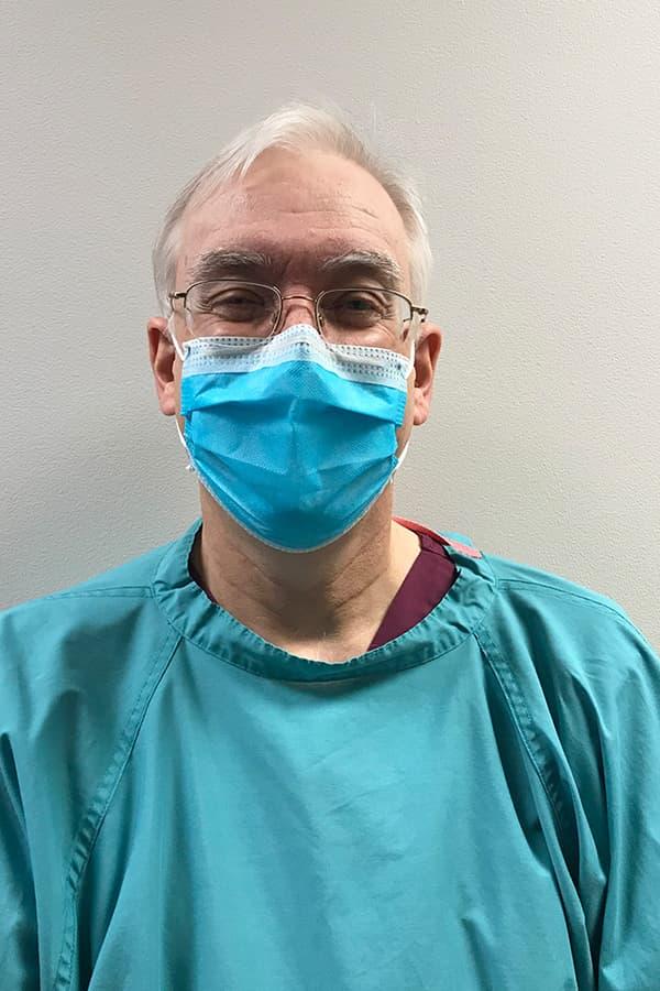 Dr. Robert Orander in PPE